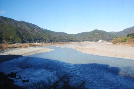 大井川で元旦を